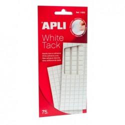 APLI Pochette 114 pastilles prédécoupées pâte adhésive blanche