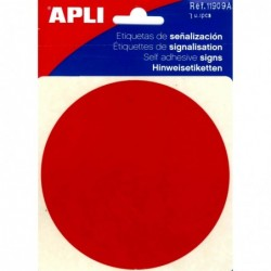 APLI Pictogramme point rouge 114 x 114 mm