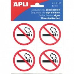 APLI Pictogramme interdiction de fumer 114 x 114 mm