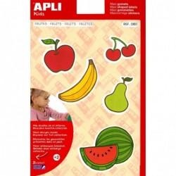 APLI Pochette 22 maxi gommettes fruits  210 x 297 mm