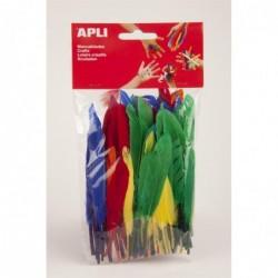 APLI Sachet 100 plumes couleurs assorties
