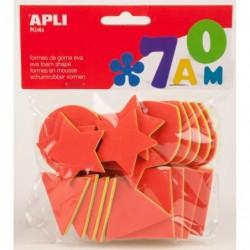 APLI Pochette 25 formes géométrique en mousse tricolore