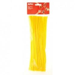 APLI Sachet de 50 chenilles jaunes  30 cm