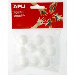 APLI Sachet 10 boules polystyrene Ø 25 mm Ø 25 mm