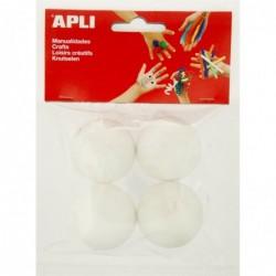 APLI Sachet 4 boules polystyrene Ø 45 mm  Ø 45 mm