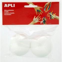 APLI Sachet de 2 boules polystyrene Ø 60 mm  Ø 60 mm