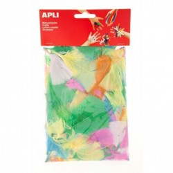 APLI Sachet 24 plumes - 14 g  assorties