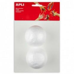 APLI Sachet 2 boules polystyrene Ø 70 mm