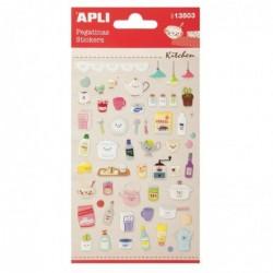 APLI Stickers en résine cuisine - 1 feuille  10x18,7 cm