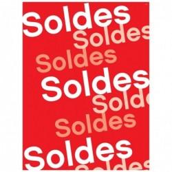 APLI Paquet de 15 affiches SOLDES  60x80 cm