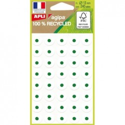 AGIPA Pochette 240 oeillets blancs 100% recyclé  Diam 13 mm