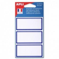AGIPA Pochette de 24 étiquettes scolaires 34 x 75 mm