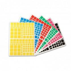 AGIPA Pochette de 2268 gommettes carrés couleurs assorties  110 x 216 mm
