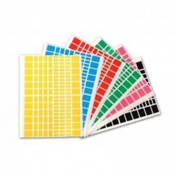 AGIPA Pochette de 2592 gommettes rectangles couleurs assorties  160 x 216 mm