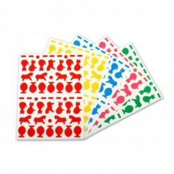 AGIPA Pochette de 540 gommettes animaux domestiques couleurs assorties  160 x 216 mm