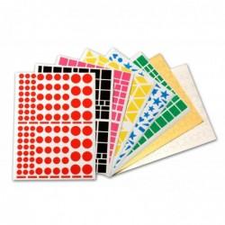 AGIPA Pochette de 7032 gommettes formes et couleurs assorties  160 x 216 mm
