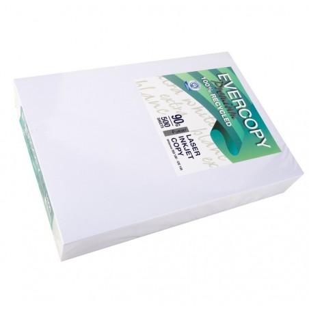 EVERCOPY Ramette 500 Feuilles Papier 90g A4 210x297 mm Certifié Ange Bleu Premium Blanc