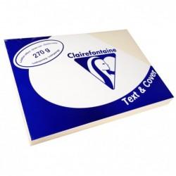CLAIREFONTAINE Pqt de 100 Couvertures reliure Text&Cover Cuir 270g A4 210x297 mm Assorti Intense