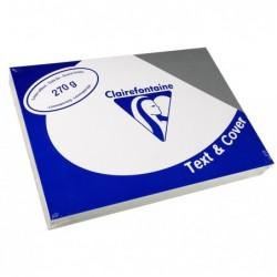 CLAIREFONTAINE Pqt de 100 Couvertures reliure Text&Cover Toilé 270g A4 210x297 mm Gris ardoise