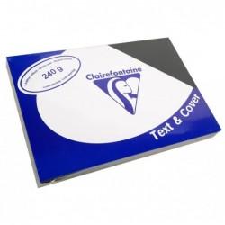 CLAIREFONTAINE Pqt de 100 Couvertures reliure Text&Cover Cuir 240g A4 210x297 mm Noir