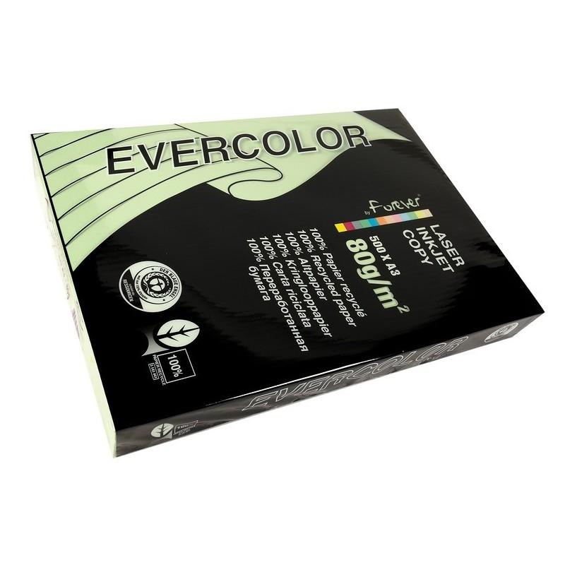 EVERCOLOR Ramette 500 Feuilles Papier 80g A3 420x297 mm Certifié Ange Bleu  vert