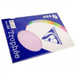 TROPHÉE Ramette 100 Feuilles Papier 80g A4 210x297 mm Certifié FSC  lilas