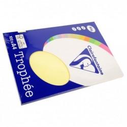 TROPHÉE Ramette 100 Feuilles Papier 80g A4 210x297 mm Certifié FSC  canari