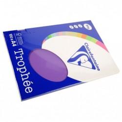 TROPHÉE Ramette 100 Feuilles Papier 80g A4 210x297 mm Certifié FSC  violine