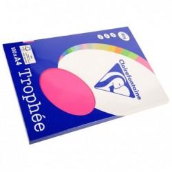TROPHÉE Ramette 100 Feuilles Papier 80g A4 210x297 mm Certifié FSC  Rose fuchsia