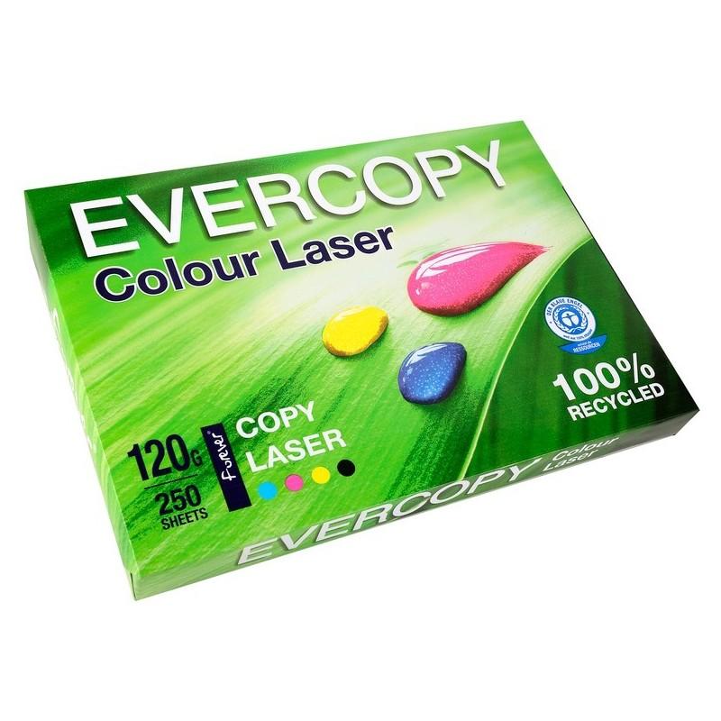 EVERCOPY Ramette 250 Feuilles Papier 120g A4 210x297 mm Certifié Ange Bleu Laser Blanc