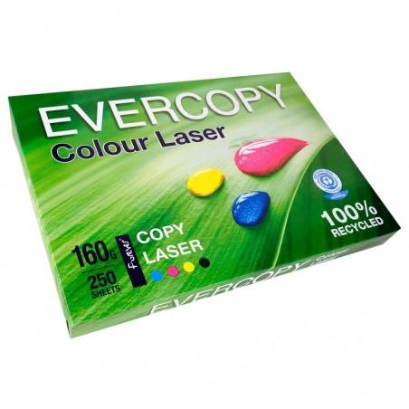 EVERCOPY Ramette 250 Feuilles Papier 160g A3 420x297 mm Certifié Ange Bleu Laser Blanc