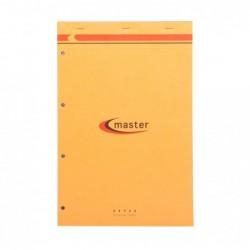 CLAIREFONTAINE Bloc Master Orange agrafes 80F 80g 21x31,8 perfo 4 trous séyès