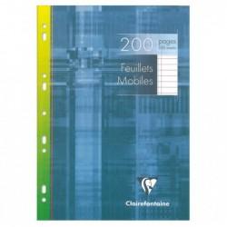 CLAIREFONTAINE Feuillets mobiles s/étui 21x29,7 200p ligné + marge