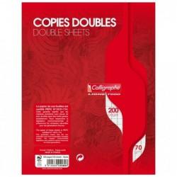 CALLIGRAPHE Copies doubles non perf. s/film 17x22 200p séyès 70g