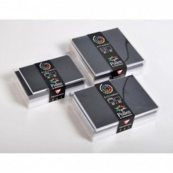 POLLEN Coffret 40 enveloppes 90x140 + 40 cartes 82x128 Hiver (5 couleurs)