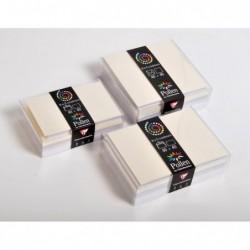 POLLEN Coffret 40 enveloppes 90x140 + 40 cartes 82x128 Rose (5 couleurs)