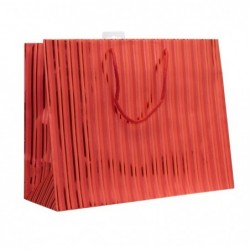 CLAIREFONTAINE Sac Premium 32x13x25 shopping rouge