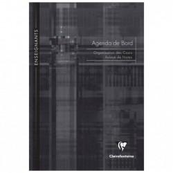CLAIREFONTAINE Agenda de bord piqué 21x29,7 72 pages, couleur aléatoire