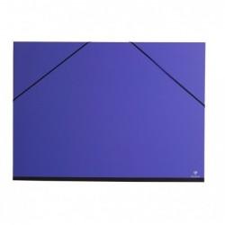 CLAIREFONTAINE Carton à dessin 52x72 a élastique Indigo