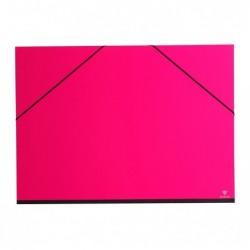 CLAIREFONTAINE Carton à dessin 52x72 a élastique Fuchia