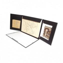 CLAIREFONTAINE Carton à dessin noir Triptyk élastique 32x45