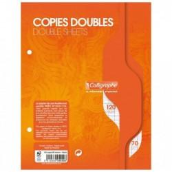 CALLIGRAPHE Copies doubles perforées s/film 17x22 120p séyès 70g