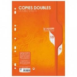 CALLIGRAPHE Copies doubles perforées s/film 21x29,7 120p séyès 70g