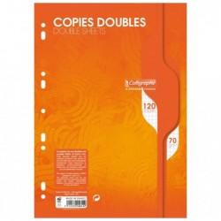 CALLIGRAPHE Copies doubles perforées s/film 21x29,7 120p Q.5x5 70g