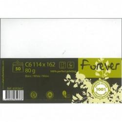 FOREVER Enveloppe 114x162 FOREVER 80g blanc, pqt 50