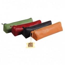 CLAIREFONTAINE Age Bag trousse cuir trapèze couleurs assorties