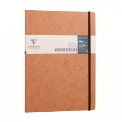CLAIREFONTAINE Age Bag My.Essential cahier cousu dos carré 21x29,7 192p 5x5 Tabac papier ivoire 90g