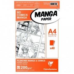CLAIREFONTAINE Manga Etui BD/Comic A4 40F O  200g