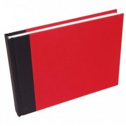 CLAIREFONTAINE Bloc voyage cousu 170g aquarelle torchon A5 rouge 60F
