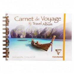 CLAIREFONTAINE Carnet Voyage A5 30F 180g Elastique Bateau